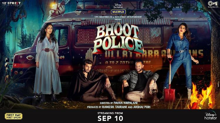 'Bhoot Police' Horror-Comedy ka Double Dose to release on 10th September 2021 on Disney+ Hotstar