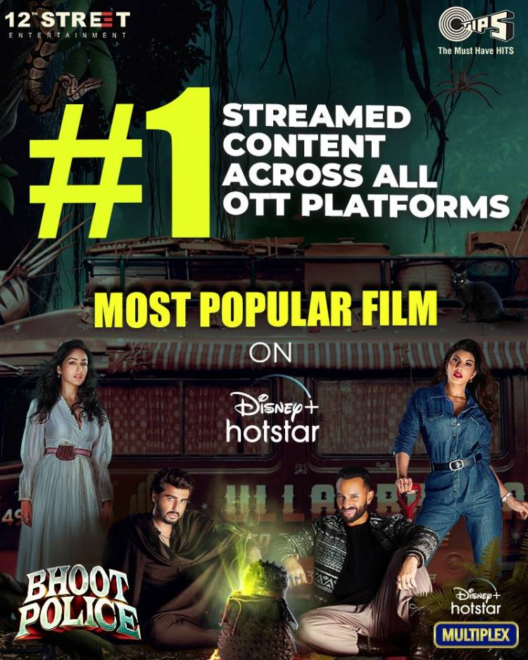 Bhoot Police becomes the most-watched Hindi movie this festive season!